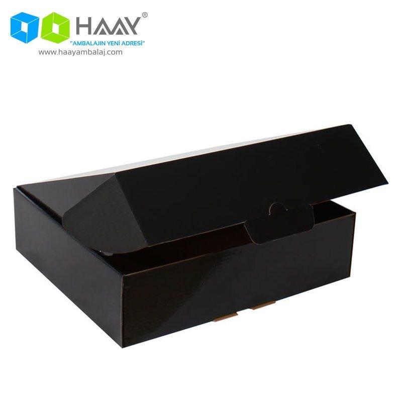 29x25,4x8 cm Siyah Kapaklı Kutu - 375
