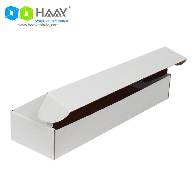 42x12x6,5 cm Beyaz Kapaklı Kutu - 402