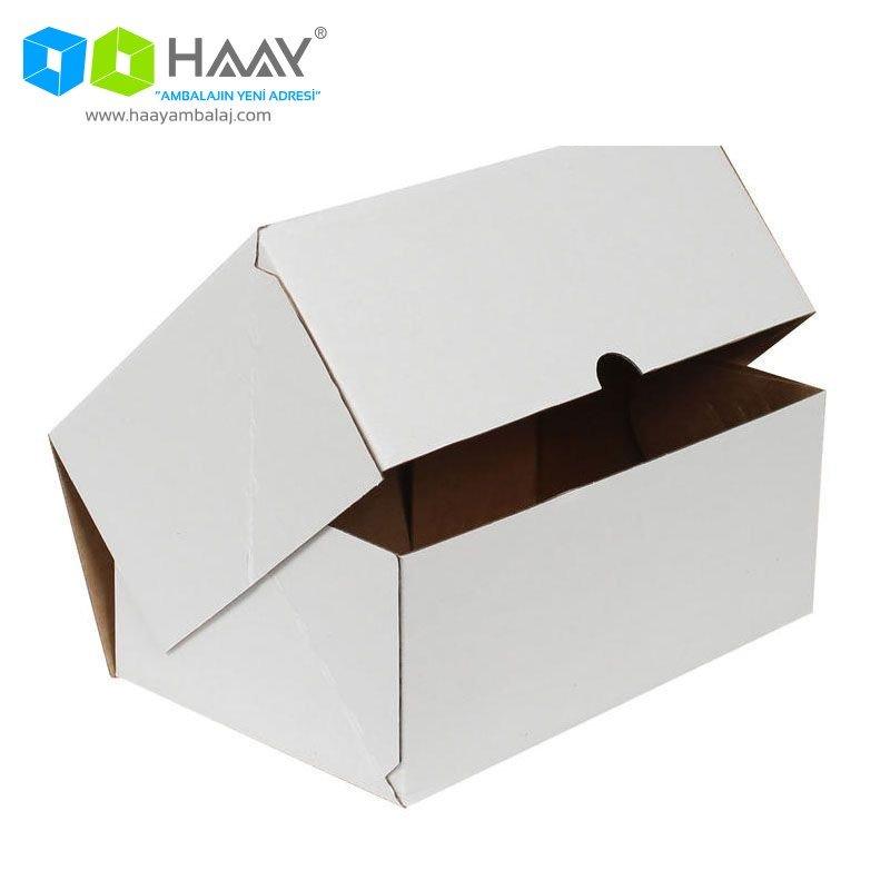 25x16x10 cm Beyaz Kutu (4 Nokta)