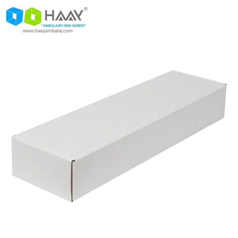42x12x6,5 cm Beyaz Kapaklı Kutu - 403