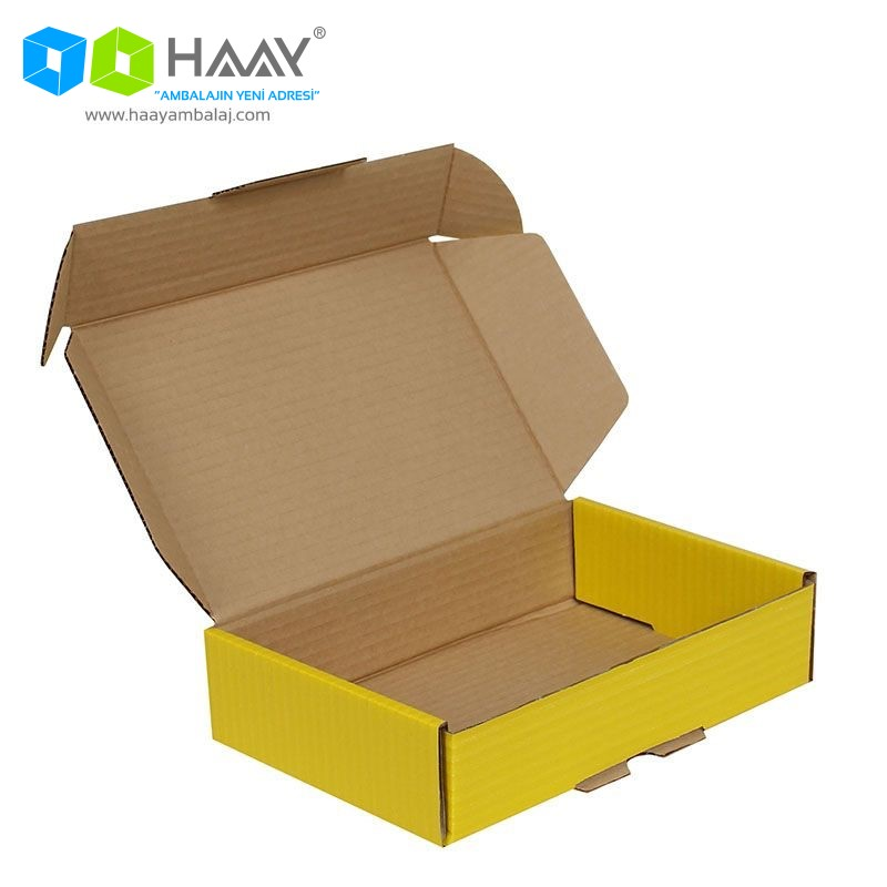 24x16,5x6 cm Kilitli Kutu (Sarı)