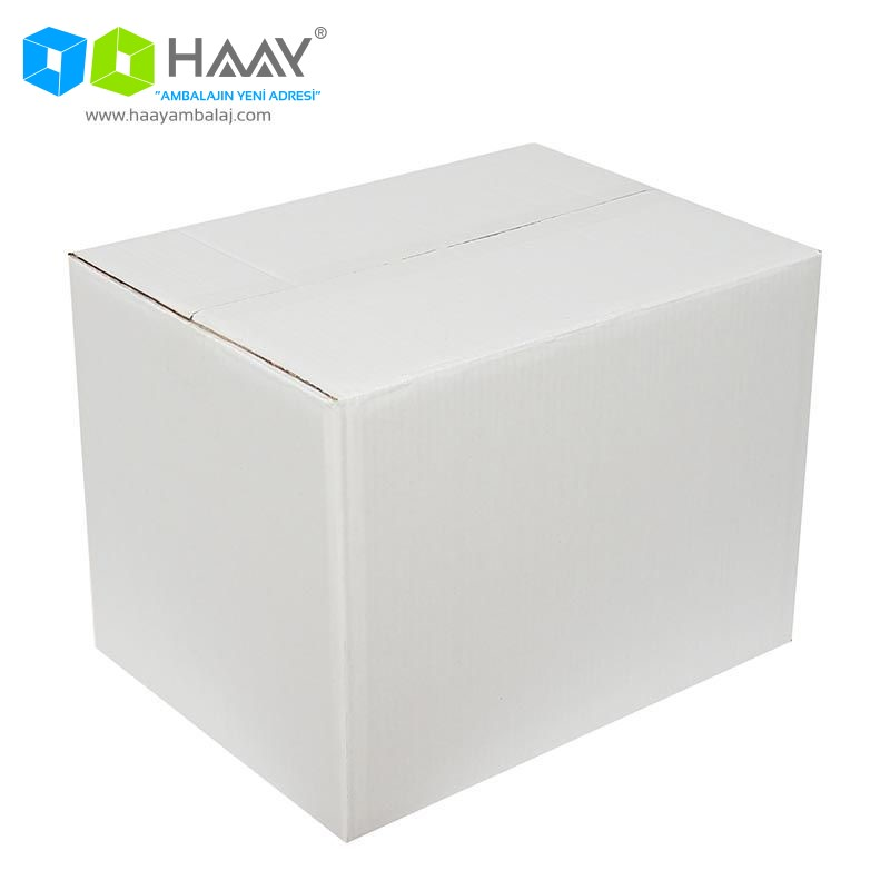 40x30x30 cm Beyaz Çift Oluklu A-Box Koli - 479