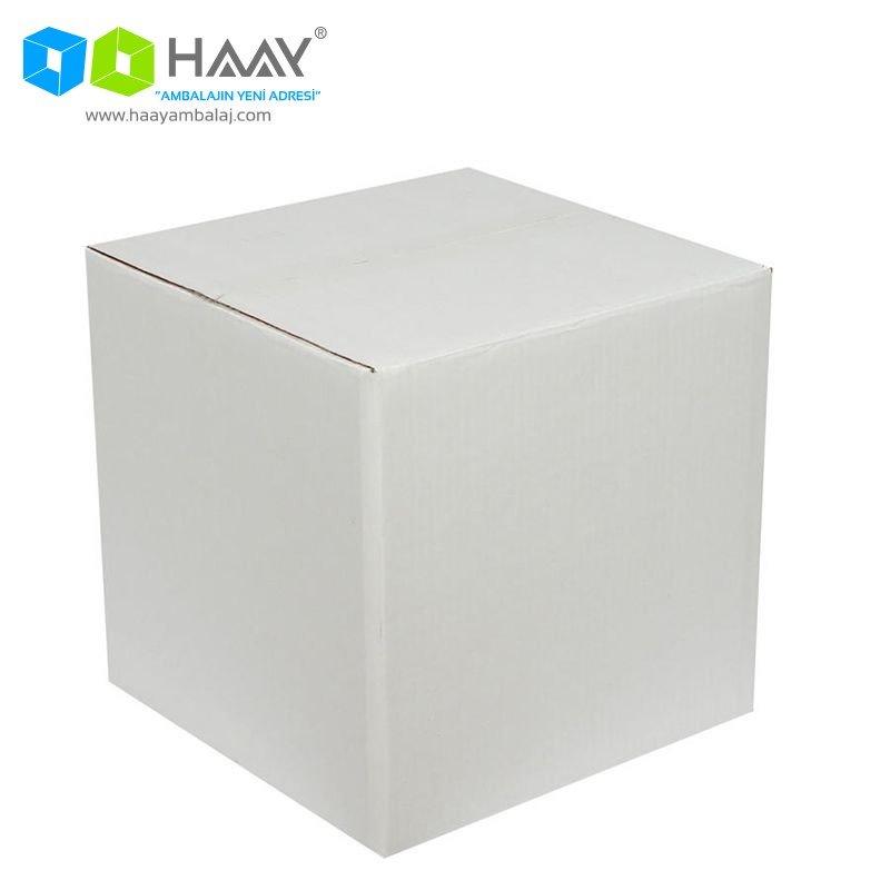 30x30x30 cm Beyaz Çift Oluklu A-Box Koli - 449