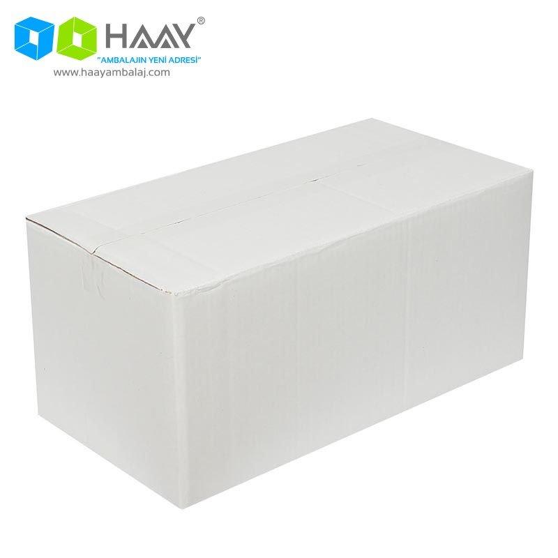 41x21x19 cm Beyaz Çift Oluklu A-Box Koli - 477