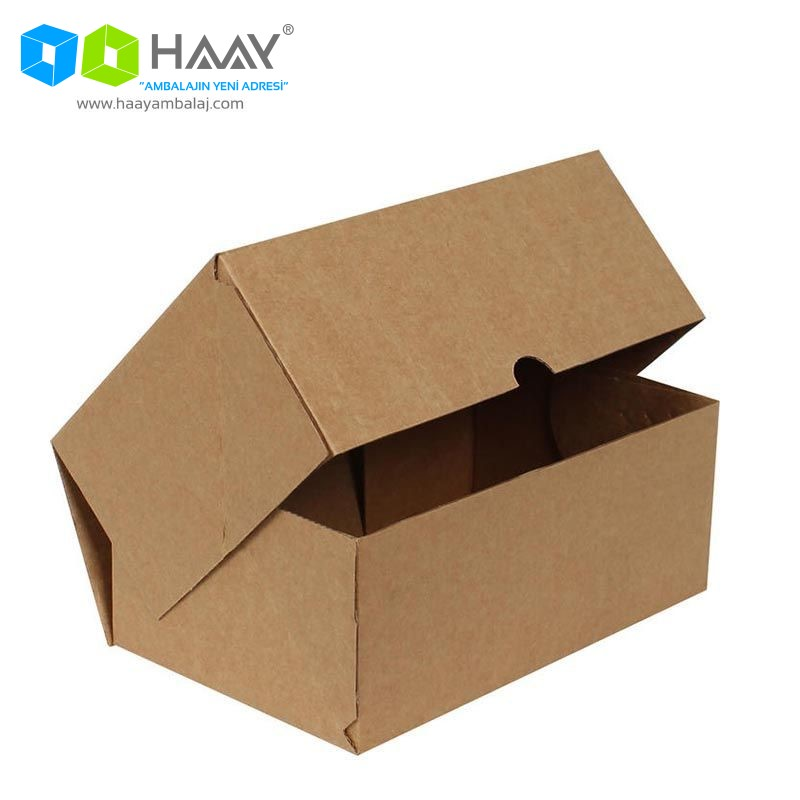 20x13x5 cm Kraft Kapaklı Kutu (4 Nokta)