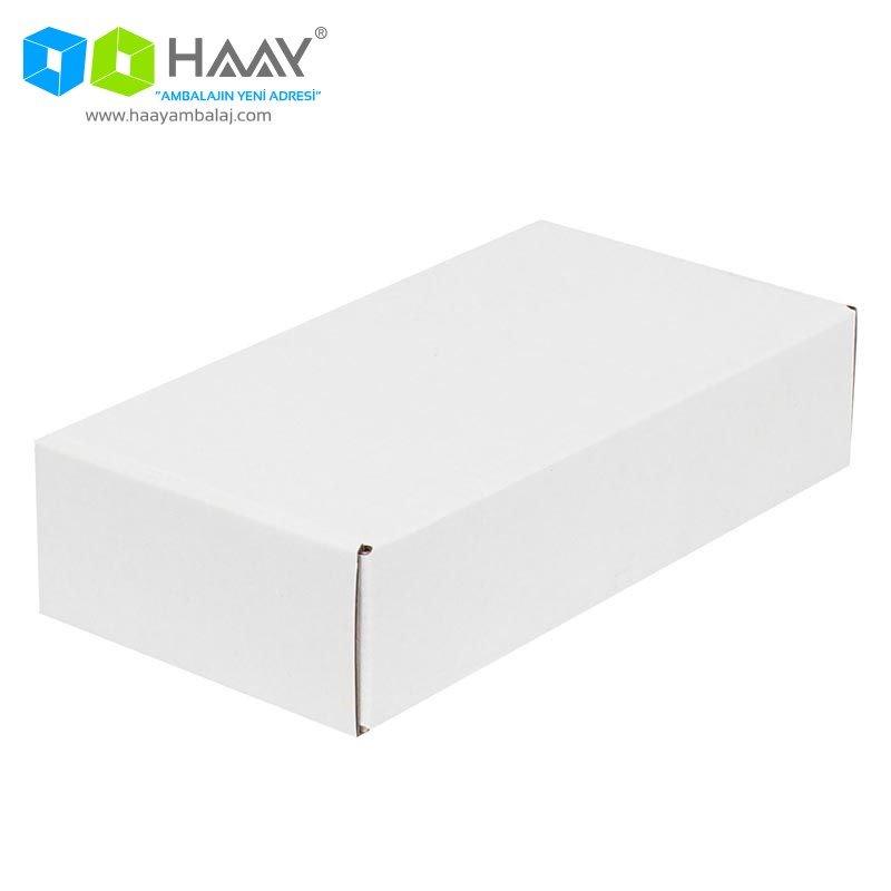 24x12x5,5 cm Beyaz Kapaklı Kutu - 469