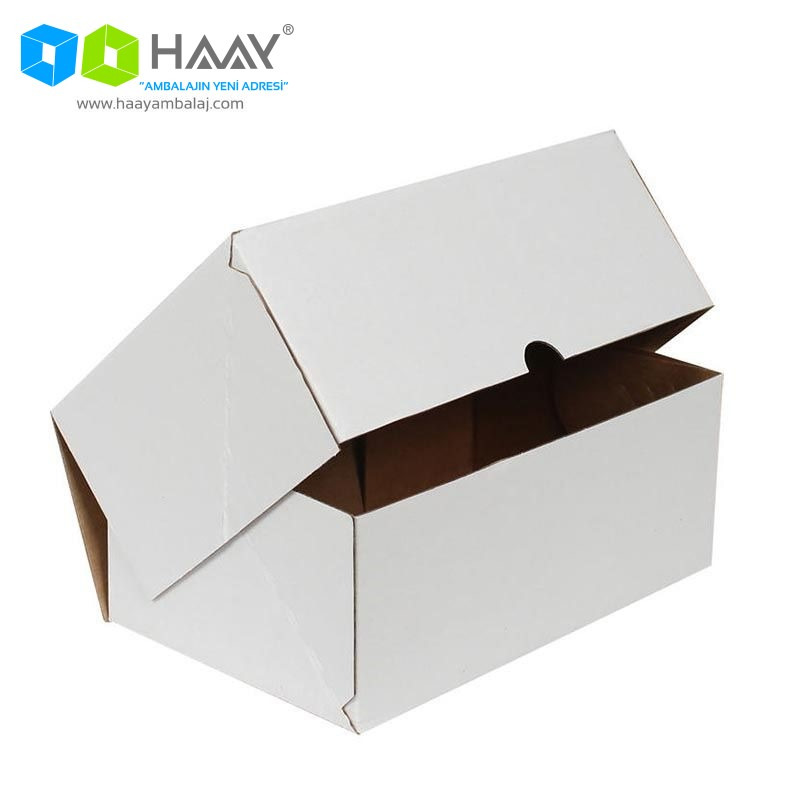 20x15x9 cm Beyaz Kapaklı Kutu (4 Nokta)