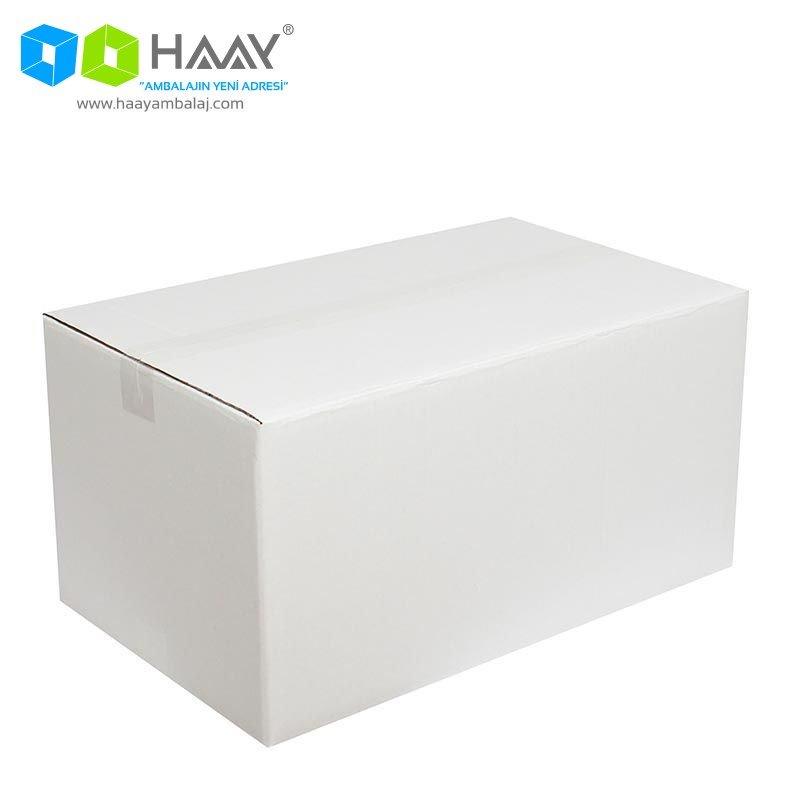 50x30x25 cm Beyaz Çift Oluklu A-Box Koli - 455