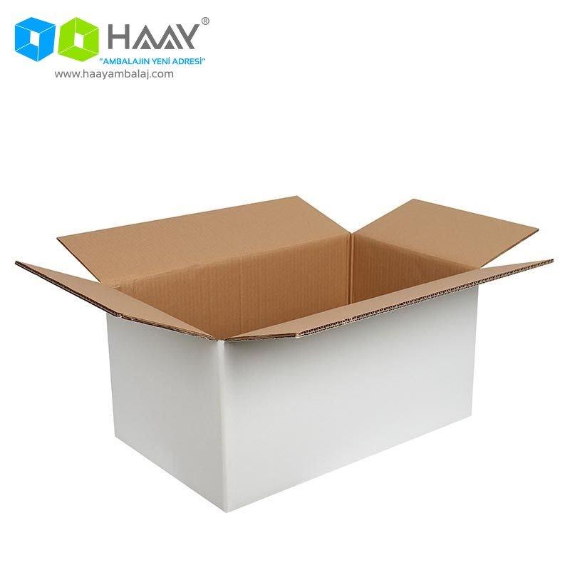50x30x25 cm Beyaz Çift Oluklu A-Box Koli - 454