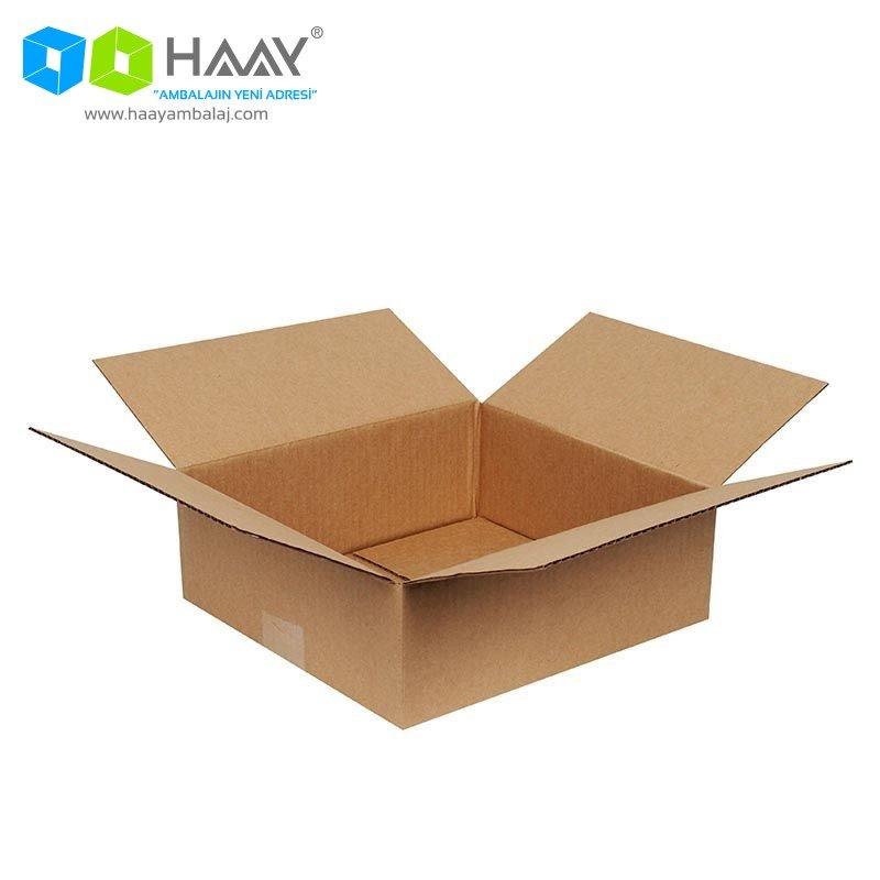 26,5x24,5x9,5 cm Tek Oluklu Kraft A-Box Koli - 498