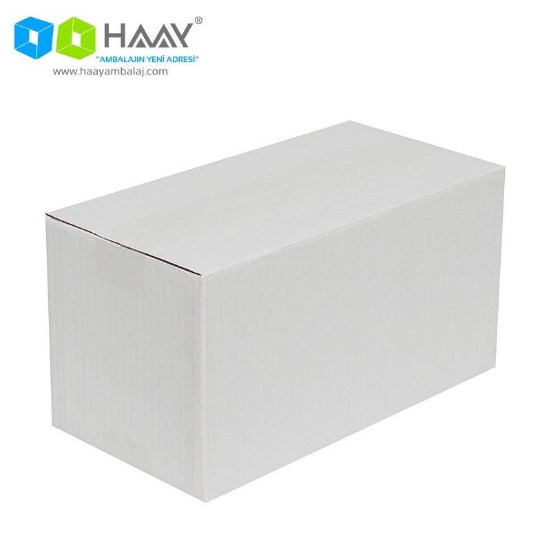 29x15x15 cm Tek Oluklu Beyaz A-Box Koli - 487