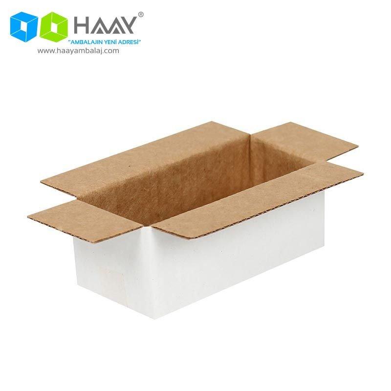 8,5x3,5x3 cm Tek Oluklu Beyaz A-Box Koli