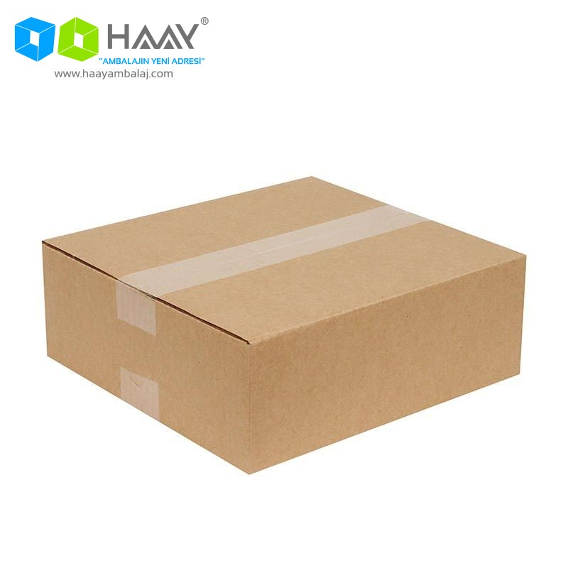26,5x24,5x9,5 cm Tek Oluklu Kraft A-Box Koli - 499