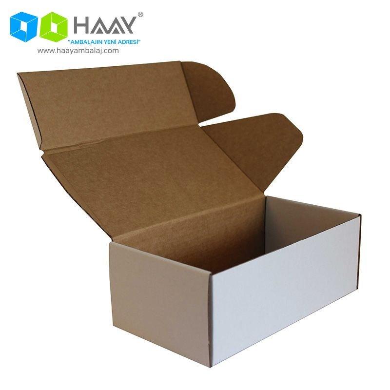 22,5x12x8 cm Beyaz Kapaklı Kutu