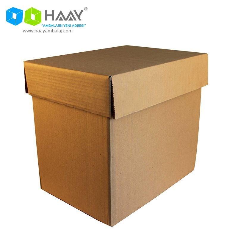 36x26x32 cm Çift Oluklu Kapaklı A-Box Koli
