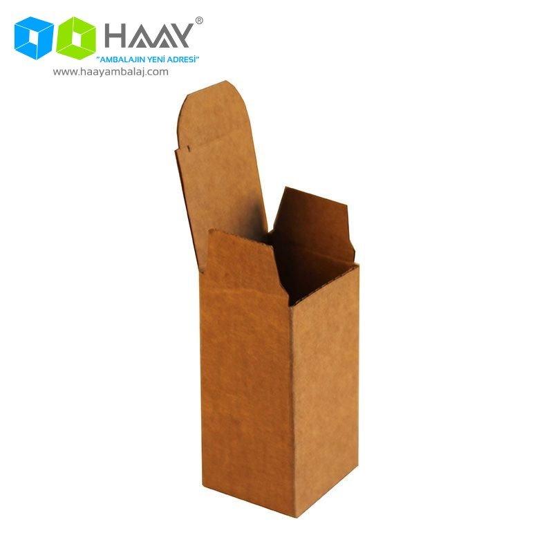 4x4x8 cm Tek Oluklu Küçük Kapaklı Kutu