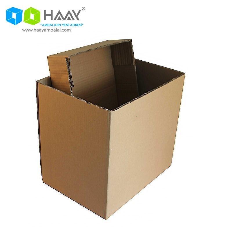 36x26x32 cm Çift Oluklu Kapaklı A-Box Koli - 510