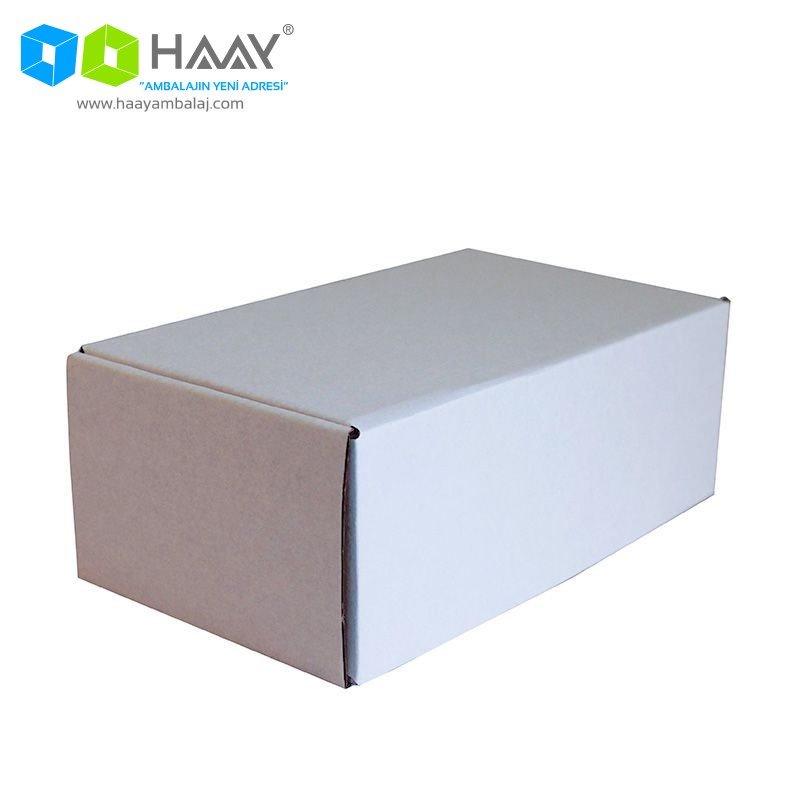 22,5x12x8 cm Beyaz Kapaklı Kutu - 513