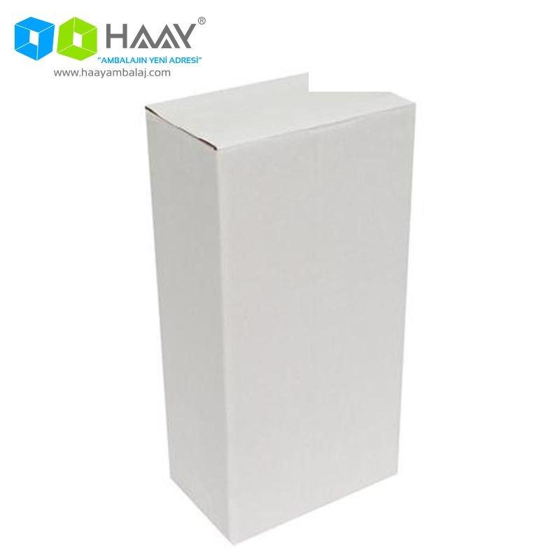 12x12x29 cm Tek Oluklu Beyaz A-Box Koli - 572