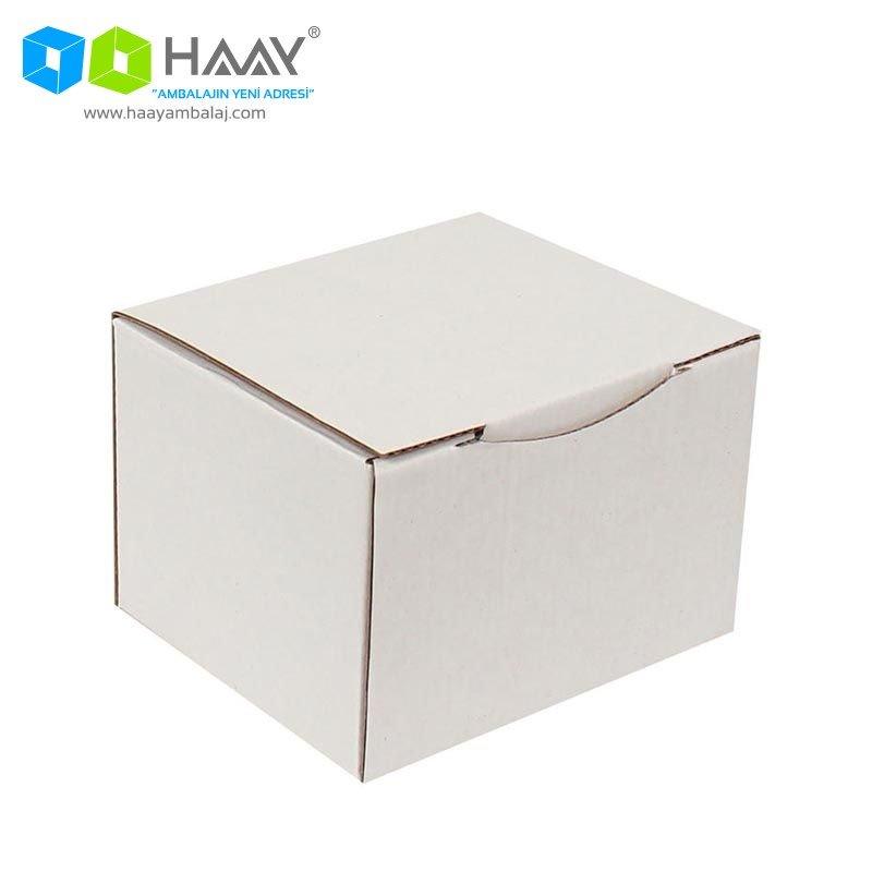 12,5x10,5x8 cm Beyaz Kapaklı Kutu - 575