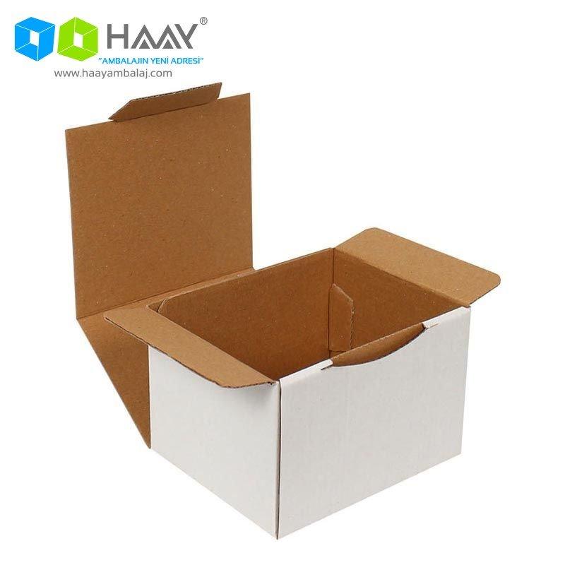 12,5x10,5x8 cm Beyaz Kapaklı Kutu