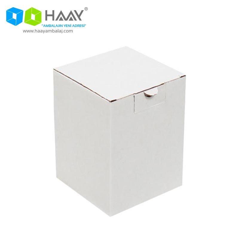 12x12x16 cm Dikey Kapaklı Beyaz Kutu - 579