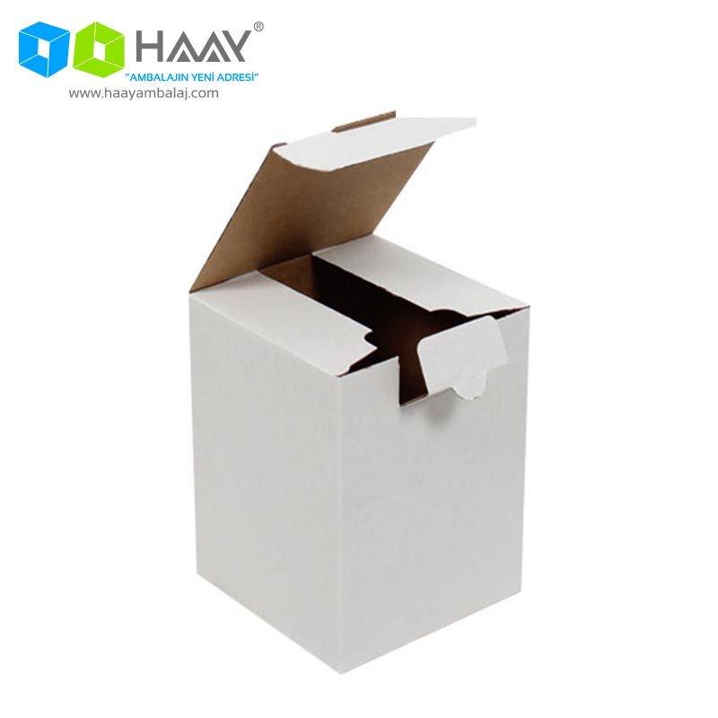 12x12x16 cm Dikey Kapaklı Beyaz Kutu - 578