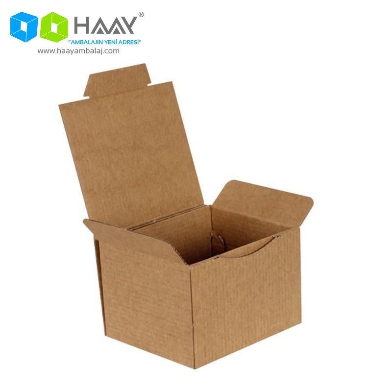 12,5x10,5x8 cm Kraft Kapaklı Kutu