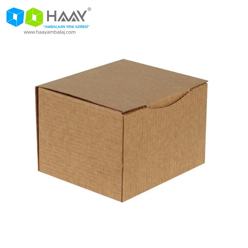 12,5x10,5x8 cm Kraft Kapaklı Kutu - 574