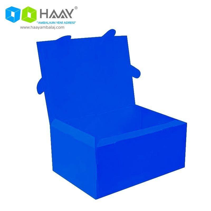 49x29x20 cm Mavi Renkli Plastik Kutu