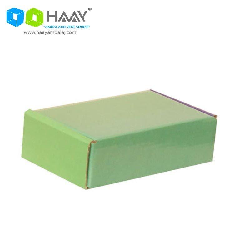14x8x4 cm Renkli Yeşil Şekilli Kutu - 583
