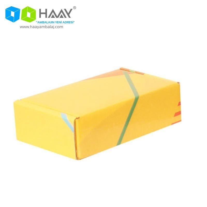 14x8x4 cm Renkli Sarı Şekilli Kutu - 585