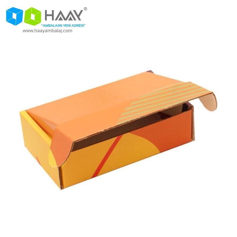 14x8x4 cm Renkli Sarı Turuncu Ofset Kutu
