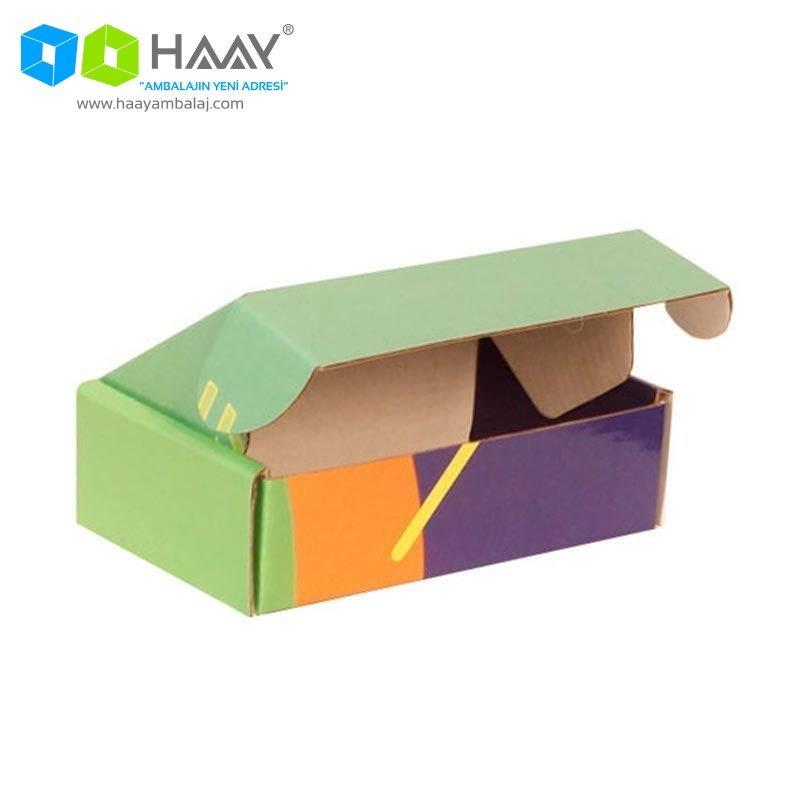 14x8x4 cm Renkli Yeşil Şekilli Kutu