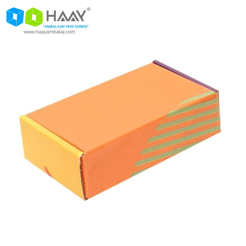 14x8x4 cm Renkli Sarı Turuncu Ofset Kutu - 587