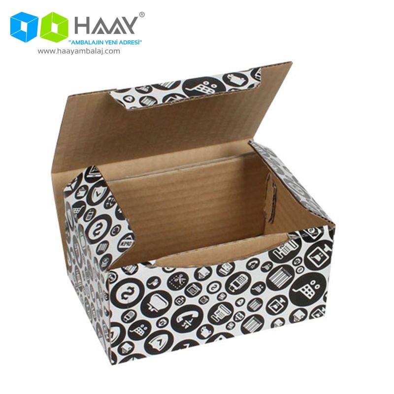 15,5x11x7,5 cm Alışveriş Temalı Siyah Kutu