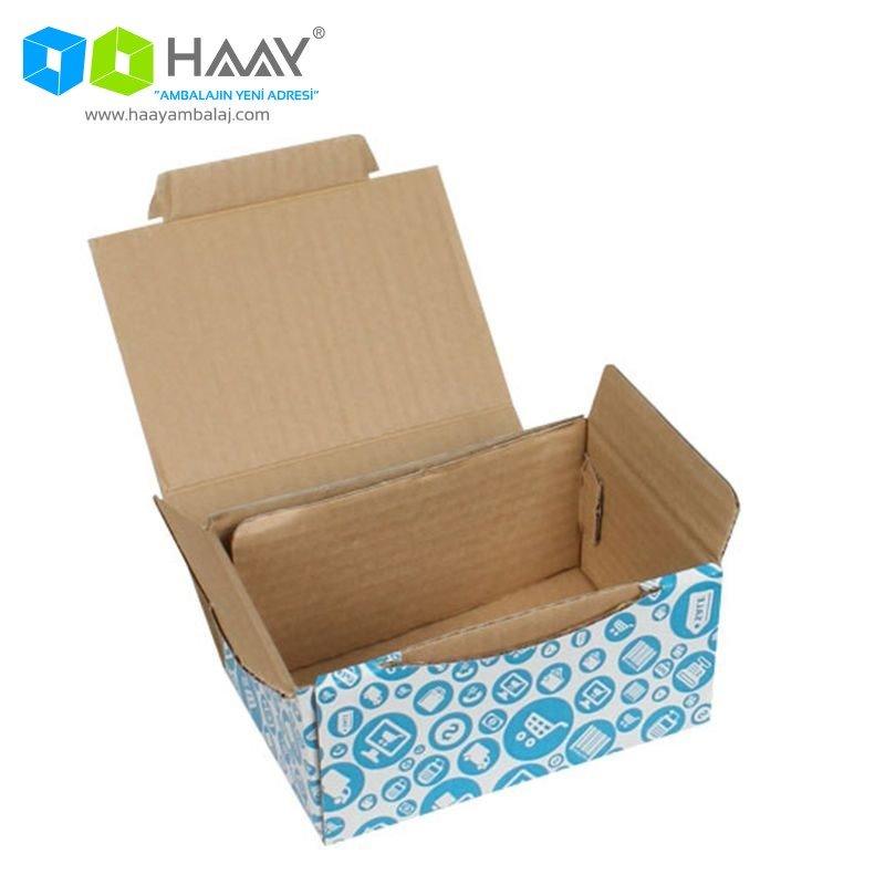 15,5x11x7,5 cm Alışveriş Temalı Mavi Kutu - 593