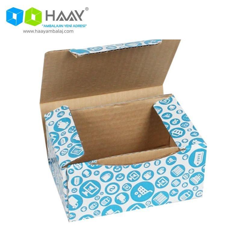 15,5x11x7,5 cm Alışveriş Temalı Mavi Kutu