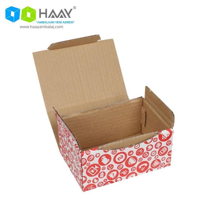 15,5x11x7,5 cm Alışveriş Temalı Kırmızı Kutu - 588