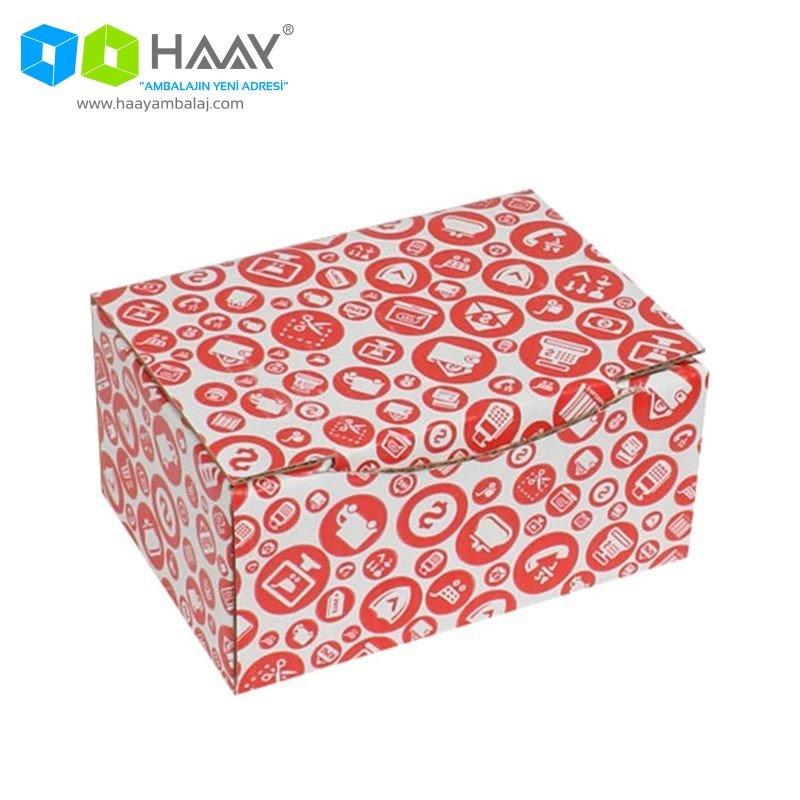 15,5x11x7,5 cm Alışveriş Temalı Kırmızı Kutu - 589