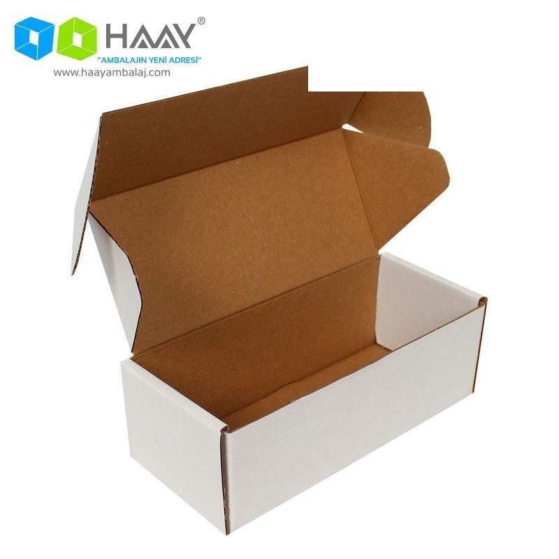 18x7,5x6 cm Beyaz Kilitli Kutu