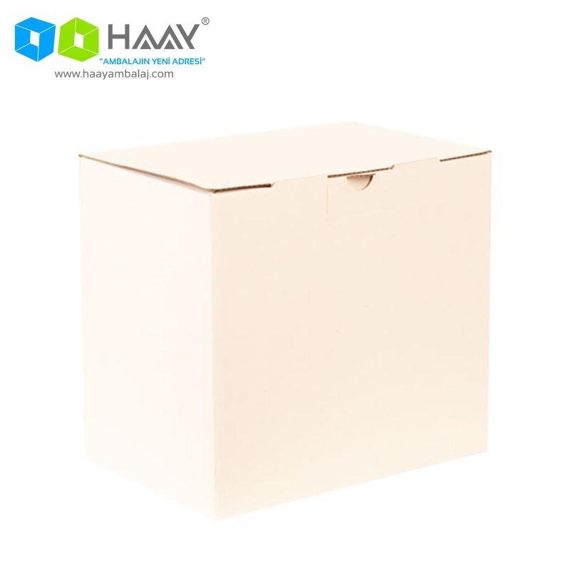 22x15x20 cm Beyaz Kilitli Kutu - 609