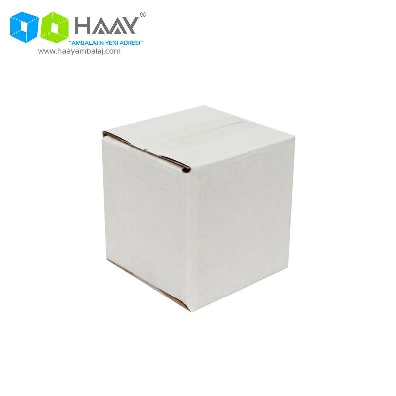 5x5x5 cm Tek Oluklu Beyaz A-Box Koli - 617