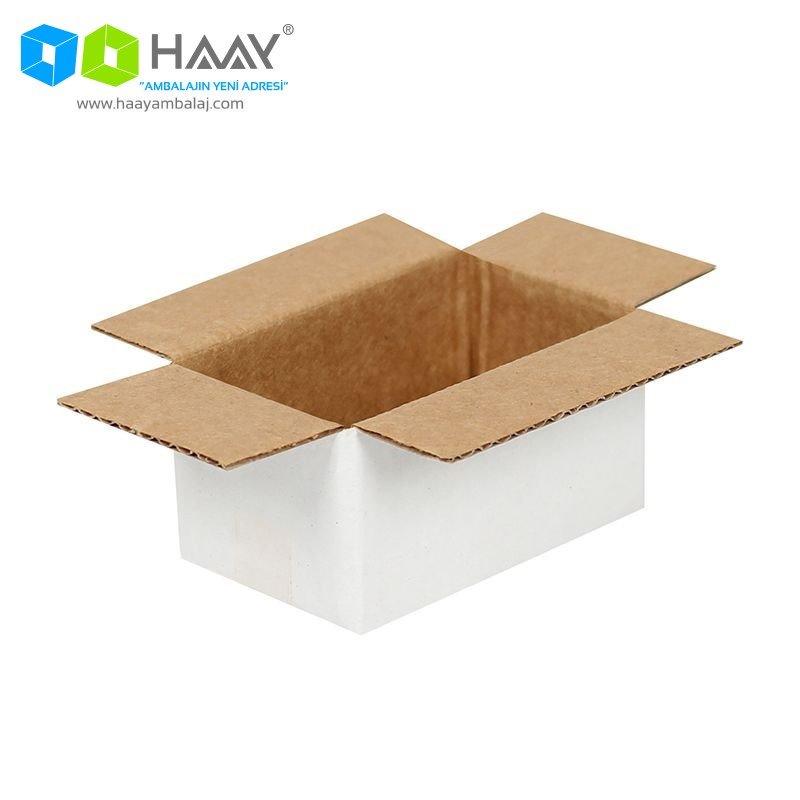 6,5x3,5x3 cm Tek Oluklu Beyaz A-Box Koli