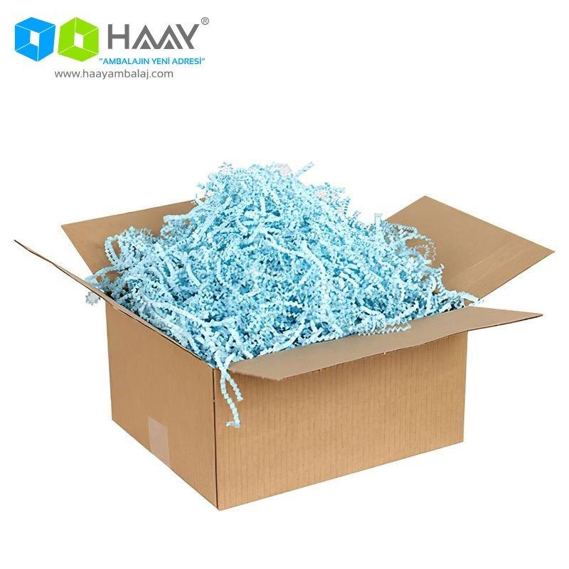 Zigzag Kağıt Dolgu Malzemesi (Mavi 250Gr)