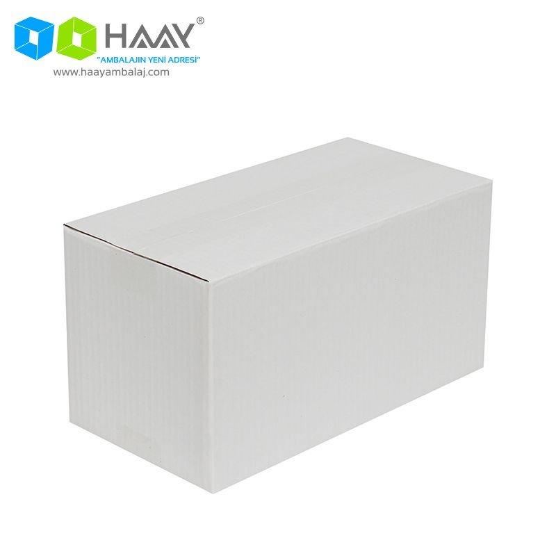 29x15x15 cm Tek Oluklu Beyaz A-Box Koli - 654