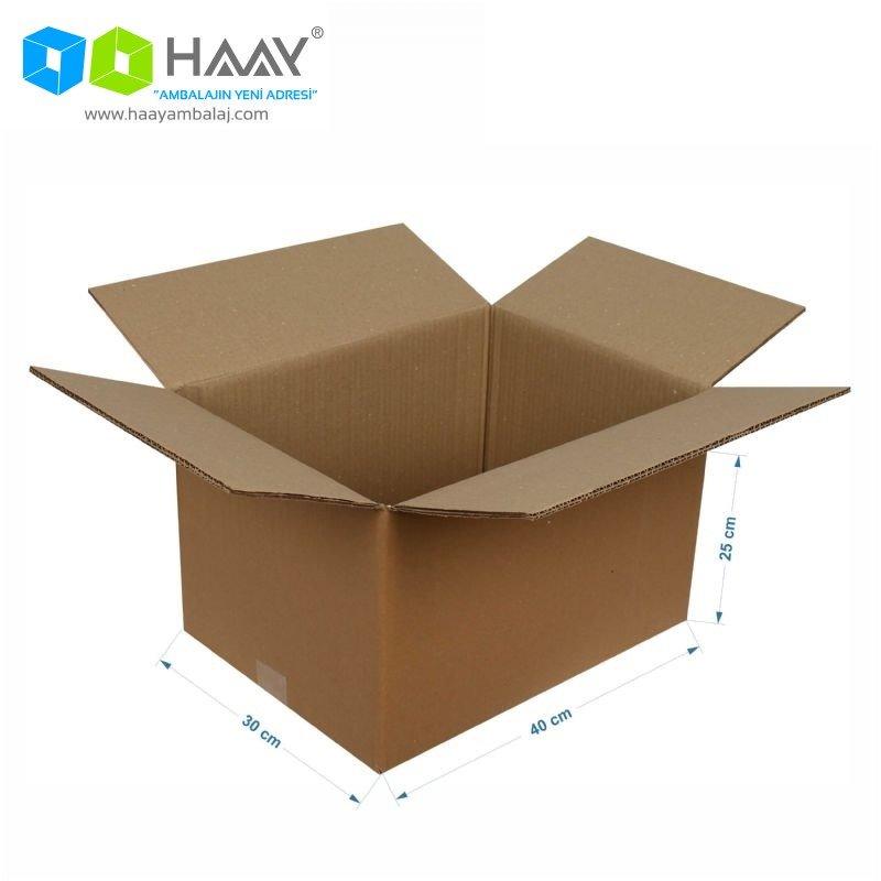 40x30x25 cm Çift Oluklu A-Box Koli