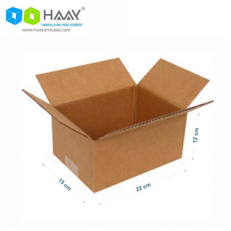 22x15x12 cm Tek Oluklu Kraft A-Box Koli