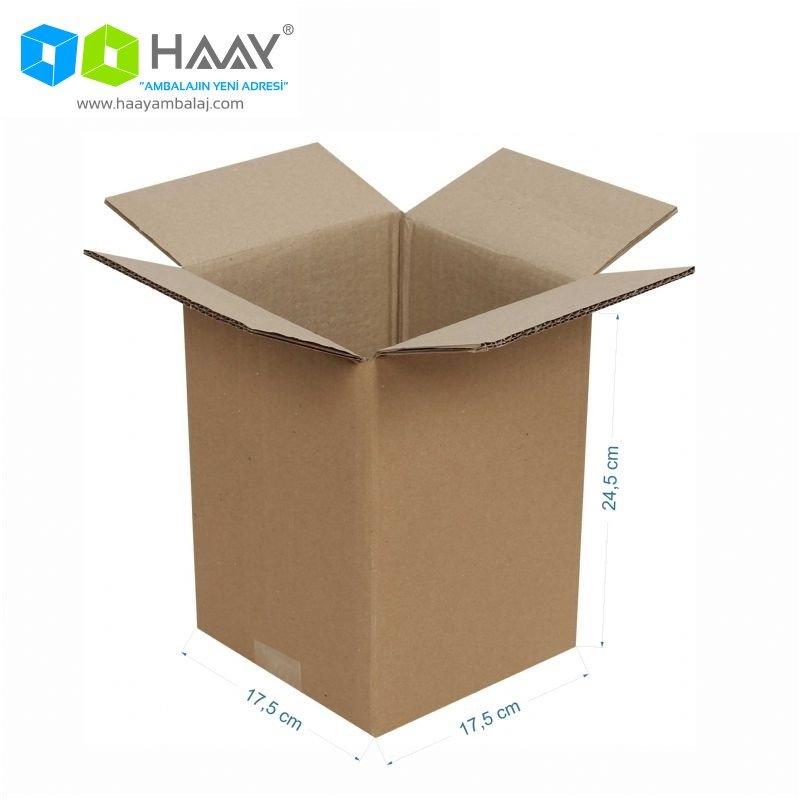 17,5x17,5x24,5 cm Çift Oluklu A-Box Koli