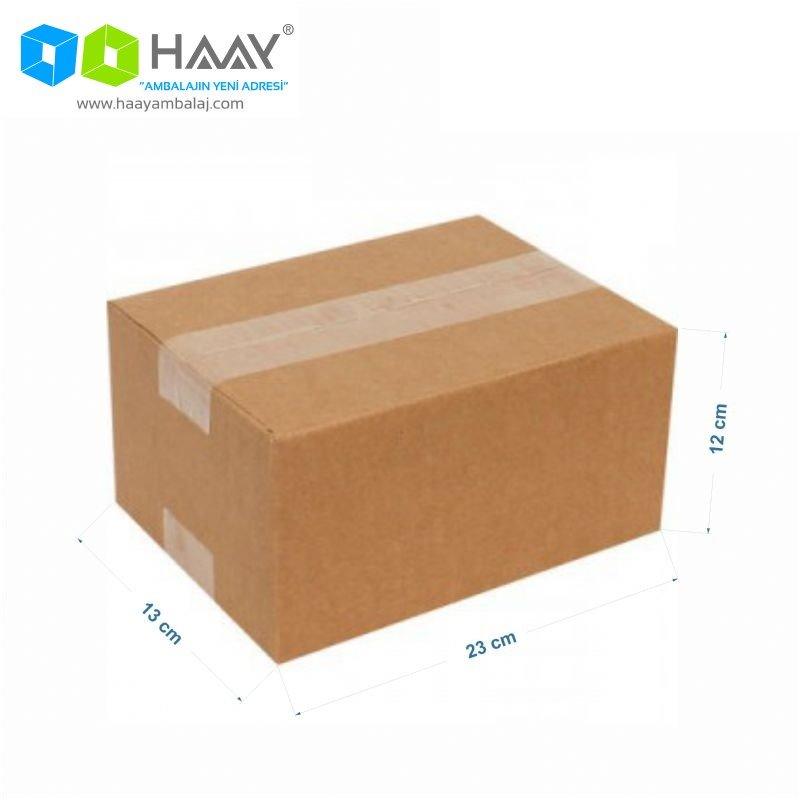 23x13x12 cm Tek Oluklu Kraft A-Box Koli